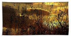 Sunset Grasses Hand Towel