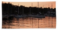Sunset Harbor Hand Towel by Suzanne Luft