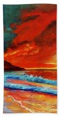 Sunset Hawaii Hand Towel by Jenny Lee