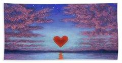 Sunset Heart 02 Hand Towel