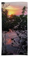 Sunset, Hutchinson Island, Florida  -29188-29191 Hand Towel by John Bald