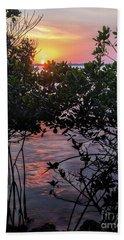 Sunset, Hutchinson Island, Florida  -29188-29191 Bath Towel by John Bald