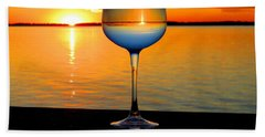 Sunset In A Glass Bath Towel