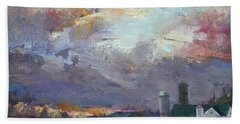 Sunset In A Troubled Weather Hand Towel by Ylli Haruni