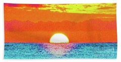 Bath Towel featuring the photograph Sunset In Abstract 500 by D Davila