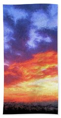 Sunset In Carolina Hand Towel