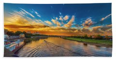 Sunset In Dresden Hand Towel by Pravine Chester