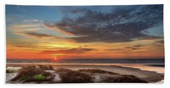 Hand Towel featuring the photograph Sunset In Florence by James Eddy