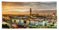 Sunset In Florence Hand Towel