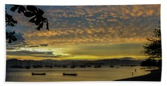 Sunset In Florianopolis Hand Towel