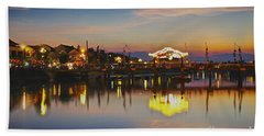 Sunset In Hoi An Vietnam Southeast Asia Hand Towel