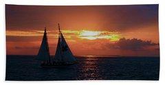 Sunset In Key West Bath Towel