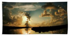 Sunset In Lacombe, La Hand Towel