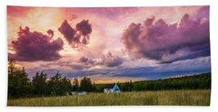 Sunset In Rear Intervale Hand Towel by Ken Morris