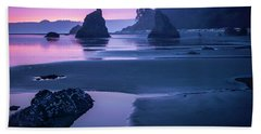 Sunset In Ruby Beach Hand Towel