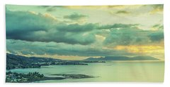 Bath Towel featuring the photograph Sunset In Tahiti by Gary Slawsky
