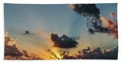 Sunset In The Caribbean Sea Hand Towel