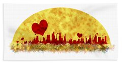 Sunset In The City Of Love Hand Towel