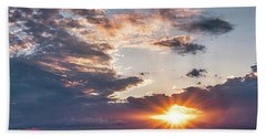Sunset In The Clouds Bath Towel