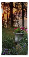 Sunset In The Flowers Hand Towel
