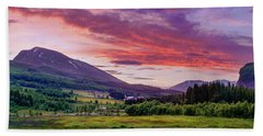 Sunset In The Meadow Hand Towel