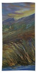 Sunset In The Mountains Hand Towel