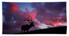 Sunset In The Rockies Bath Towel