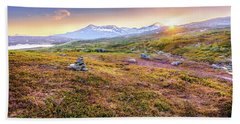 Sunset In Tundra Hand Towel