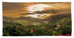 Sunset In Valley  Hand Towel