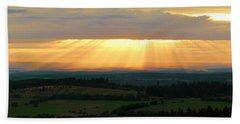 Sunset In Vogelsberg Bath Towel