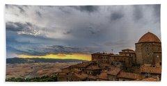 Sunset In Volterra Hand Towel
