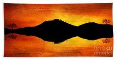 Bath Towel featuring the digital art Sunset Island by Ian Mitchell