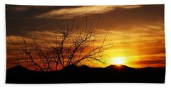Hand Towel featuring the photograph Sunset by Joseph Frank Baraba