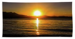 Sunset Lake 1 Bath Towel