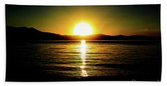 Sunset Lake 2 Hand Towel