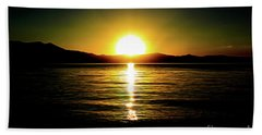 Sunset Lake 2 Bath Towel