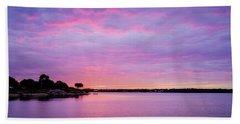 Sunset Lake Arlington Texas Bath Towel