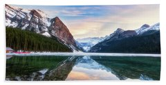 Sunset Lake Louise Hand Towel