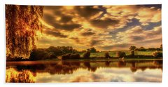Sunset Lake Hand Towel