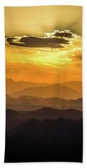 Sunset Layers Bath Towel
