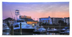 Sunset Marina Bath Towel