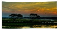 Sunset Marsh Bath Towel