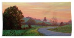 Sunset Meditation- In The Blue Ridge Mountains Hand Towel