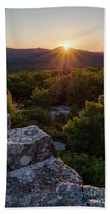 Hand Towel featuring the photograph Sunset, Mt. Battie, Camden, Maine 33788-33791 by John Bald