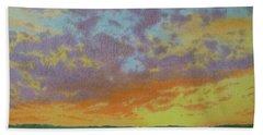 Sunset Near Miles City Bath Towel