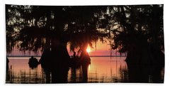 Sunset On A Louisiana Cypress Swamp Hand Towel