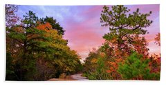 Sunset On Bombing Run Road Hand Towel
