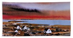 Sunset On Bungowla, Inishmor, Aran. Hand Towel
