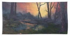 Sunset On Cannock Chase  Hand Towel
