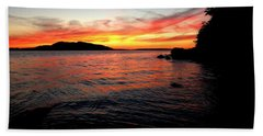 Sunset On Clayton Beach Bath Towel by Karen Molenaar Terrell